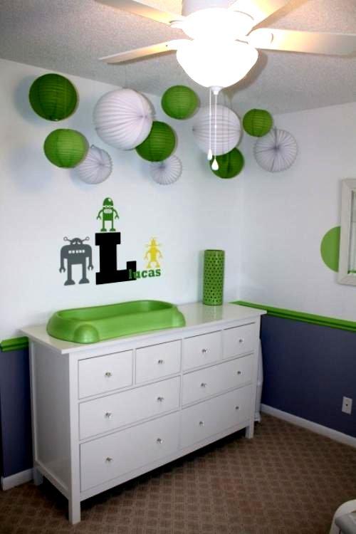 Baby Zimmer Deko Junge Modern On Andere Und Babyzimmer Dekorieren 38 Ideen Mit Papierlaternen Pompoms 9
