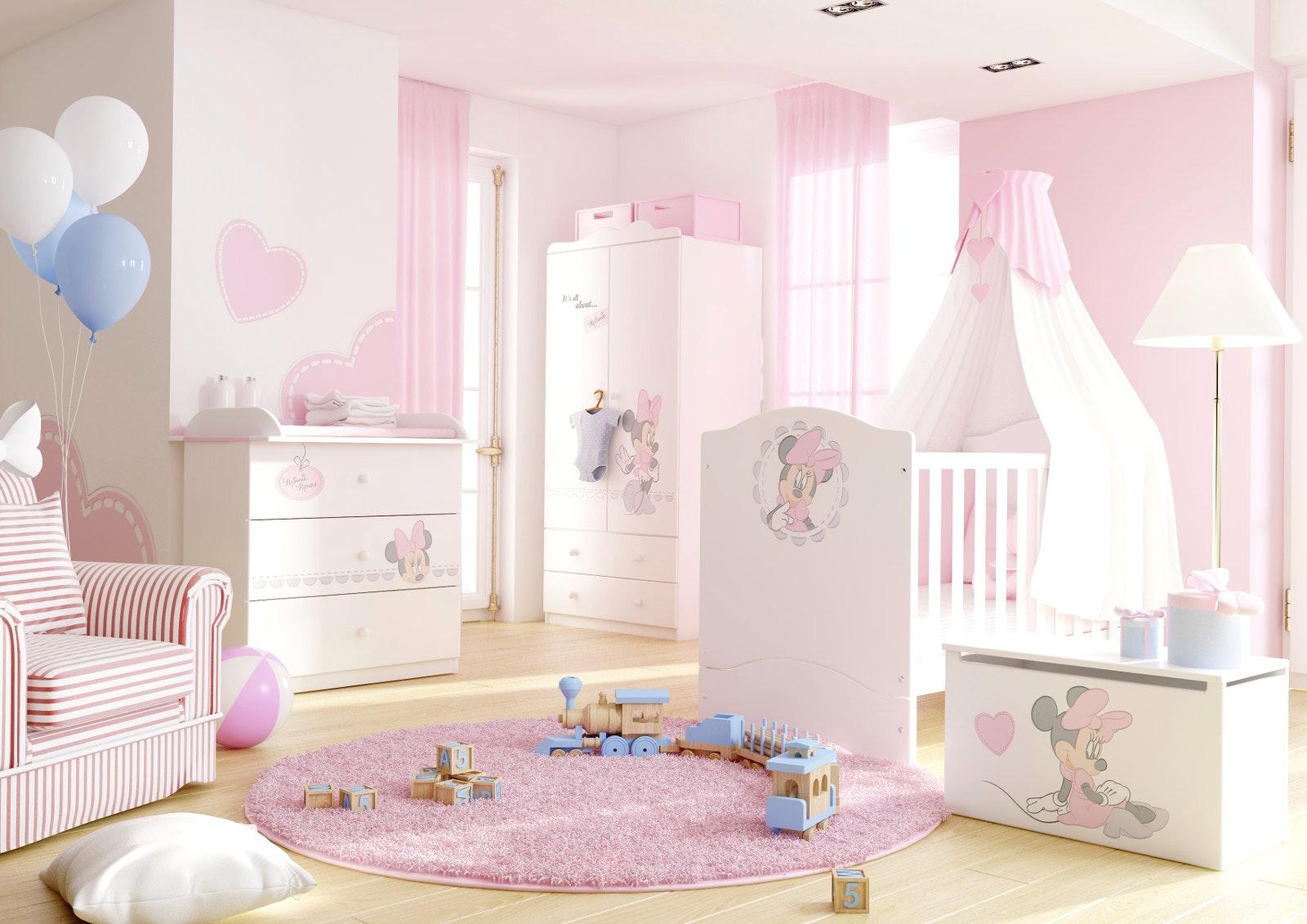 Babyzimmer Mädchen Erstaunlich On Andere Und Gute Ideen Tapete Angenehme 1