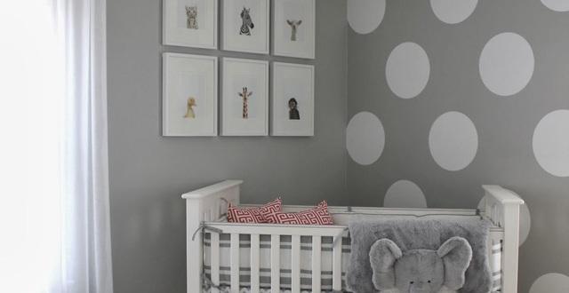 Babyzimmer Neutral Gestalten Schön On Andere In Wandfarbe Grau Und Wand Streichen Muster Weiße Punkte Für Neutrale 9