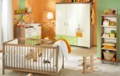 Babyzimmer Orange Grün