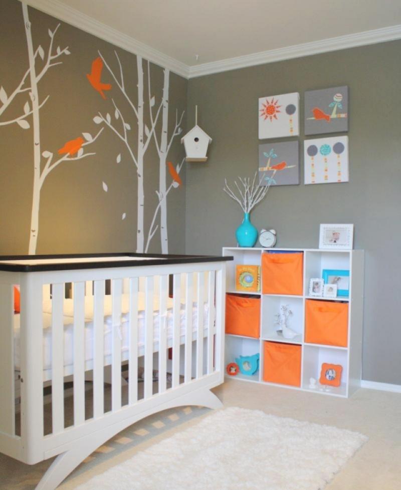 Babyzimmer Wandgestaltung Beispiele Neutral Kreativ On Andere Und Fur Innen Aussen 7