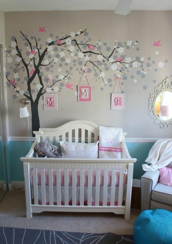 Babyzimmer Wandgestaltung Beispiele Neutral Perfekt On Andere Für Haus Auch Und 3