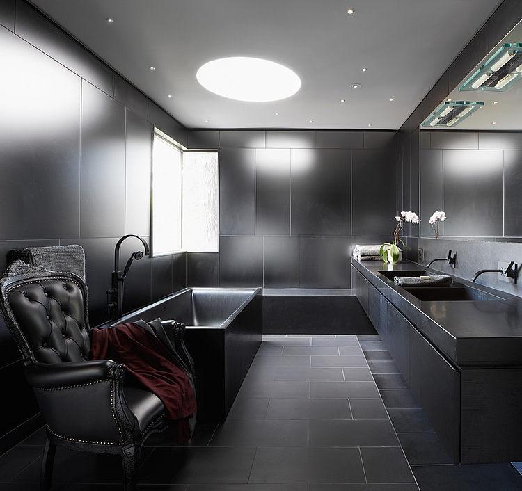 Bad In Schwarz Großartig On Andere überall Moderne Badezimmer 17 Aufdringend Weiss Beabsichtigt Von 5