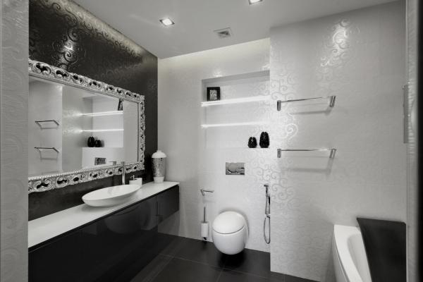 Bad In Schwarz Nett On Andere Für Wei Modern Badezimmer Wohndesign 3