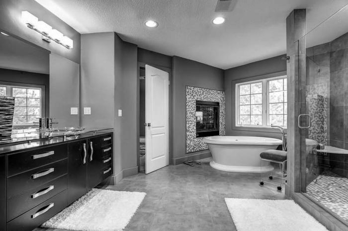 Bad In Schwarz Stilvoll On Andere Badezimmer Wohndesign 6