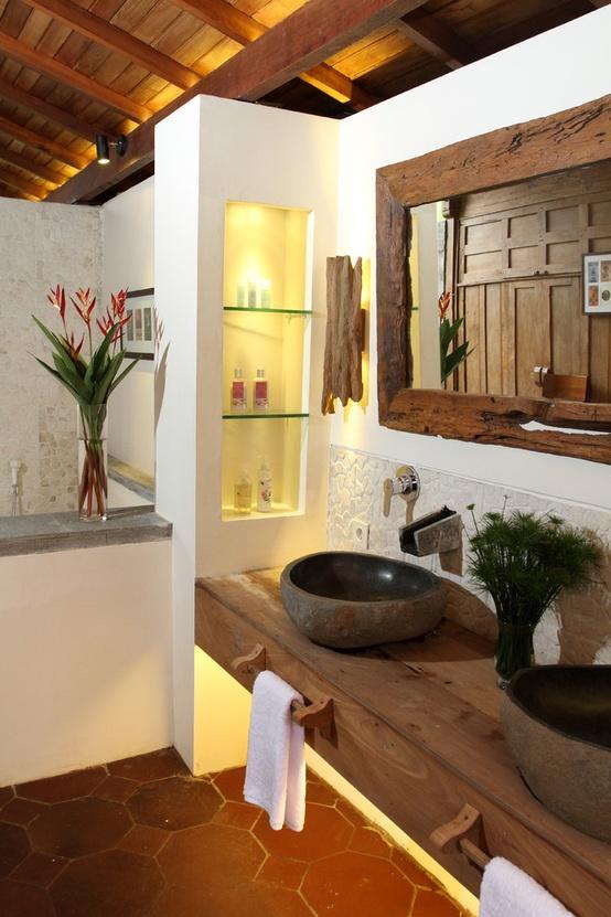 Bad Mit Steine Imposing On Andere überall Moderne Rustikale Badezimmer Einrichtung Unterwaschtisch Regal 9