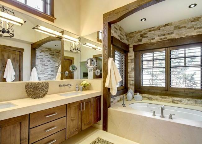 Badeinrichtung Kleines Bad Unglaublich On Andere Beabsichtigt Aus Holz Gestalten Ideen Für Rustikale 3