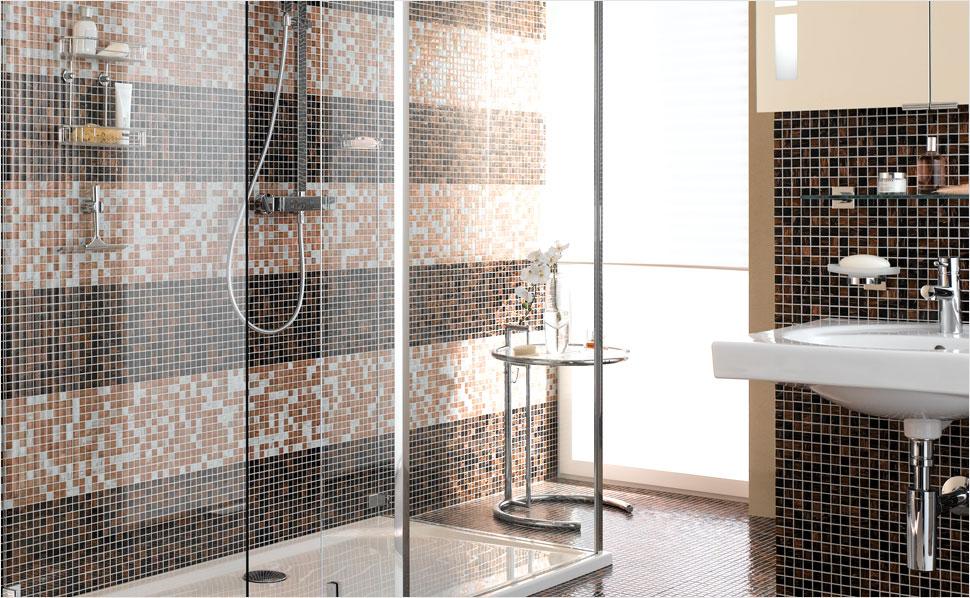 Badfliesen Mosaik Herrlich On Andere Beabsichtigt Aus Glas Naturstein Und Vielen Anderen Materialien Von 3