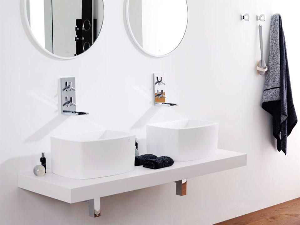Badtisch Doppelwaschbecken