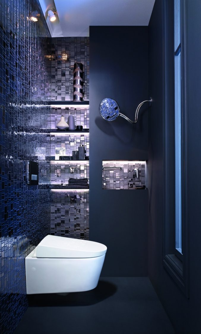 Blaue Badfliesen Dekoration Glänzend On Andere In Uncategorized Geräumiges Mit Mosaik 9
