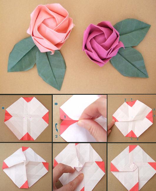 Blumen Falten Aus Papier Großartig On Andere Und Origami Rose 1 Pinterest 6