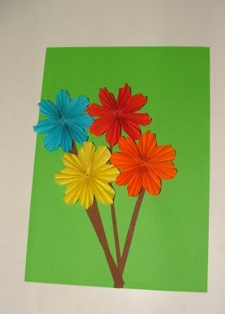 Blumen Falten Aus Papier Kreativ On Andere überall Eine Blume Und Kleben 4