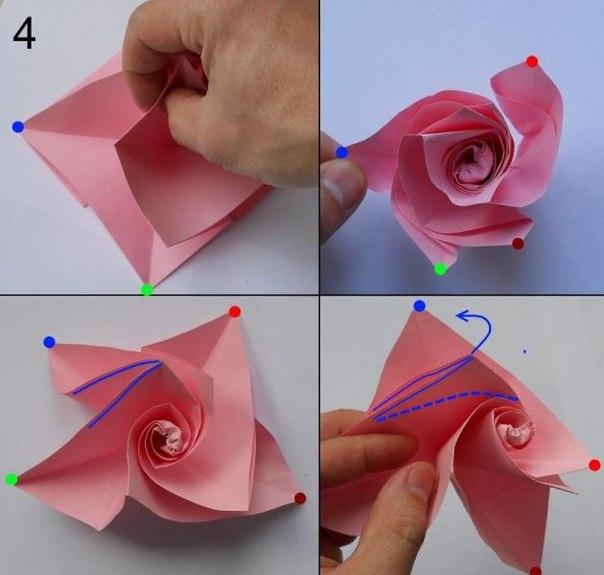 Blumen Falten Aus Papier Schön On Andere Beabsichtigt Rose Basteln Anleitung DekoKing 3