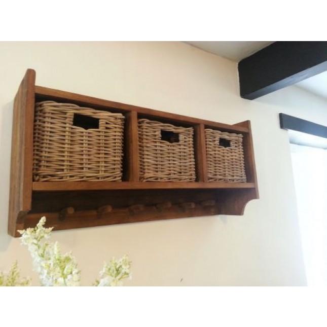Coat Hooks With Storage Herrlich On Andere Mit Reclaimed Teak Hook Unit 3 Baskets Hallway 4