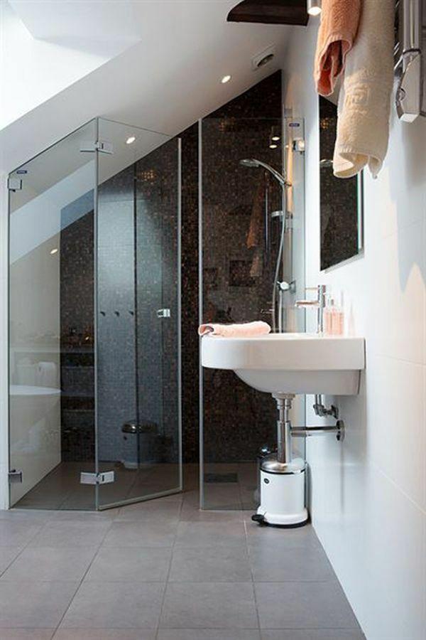 Dachwohnung Einrichten Bilder Imposing On Andere Auf Badezimmer Duschkabine Waschbecken 7