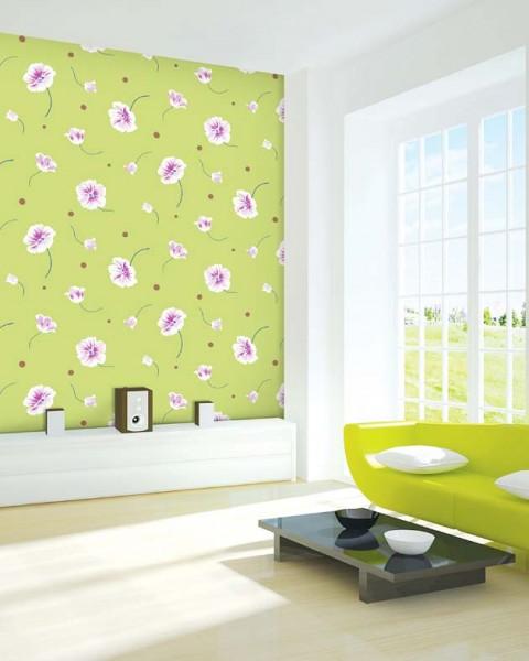 Deko Tapete Grün Großartig On Andere Für Selbstklebende Blumen Seideneffekt Tapetenwelt 8