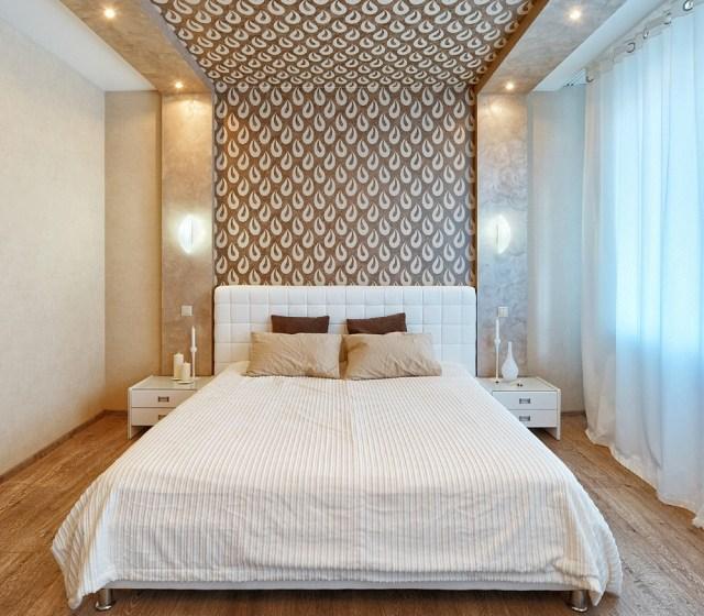 Dekorieren Mit Tapete Unglaublich On Andere Für Modernes Schlafzimmer Wand Braun Creme Tropfen 8