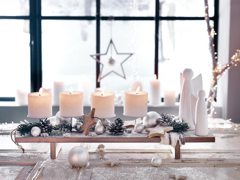 Dekorieren Weiss Interessant On Andere Und Weihnachten Wird Sicher Weiß Deko Trends Fürs Fest WEB DE 6