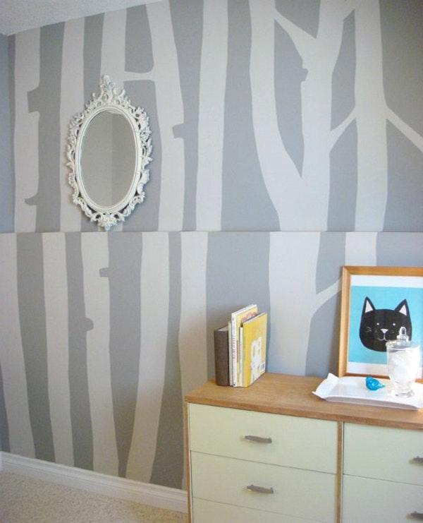 Dunkelgraue Wandfarbe Mit Muster Zeitgenössisch On Andere Innerhalb Unvergleichlich Wohnzimmer Weis 4
