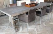 Esstisch Eiche Tischplatte Grau