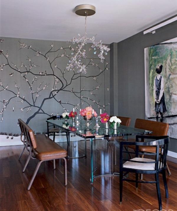 Esszimmer Wandgestaltung Einfach On Andere Für 25 Dekoideen Wandtattoo Im 7