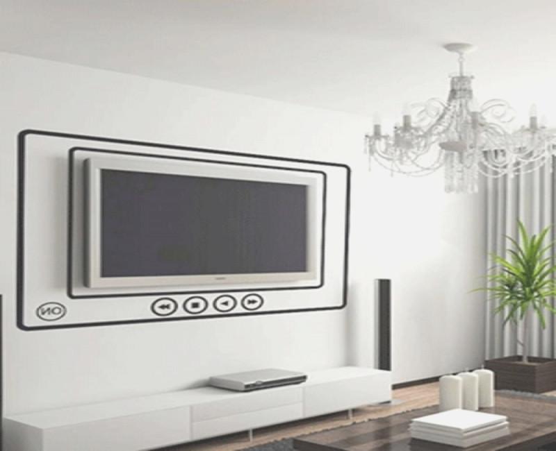 Fernseher Wand Deko Nett On Andere In Bezug Auf 3 Tv Gestalten Wohnzimmer 1