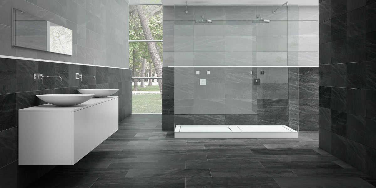 Fliesen Bad Grau Beeindruckend On Andere Für Badezimmer Us 9