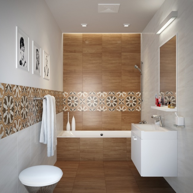 Fliesen In Holzoptik Bad Fein On Andere 32 Moderne Badideen Verlegen 6