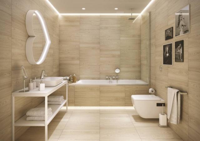 Fliesen In Holzoptik Bad Kreativ On Andere überall 32 Moderne Badideen Verlegen 3