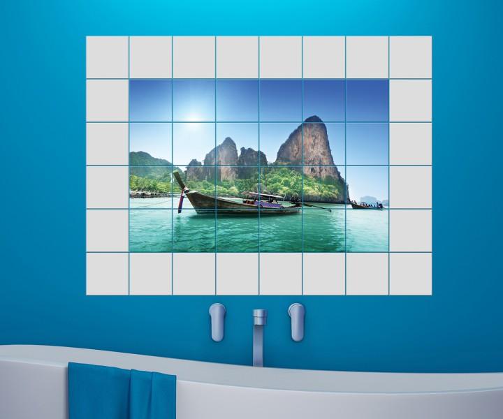 Fliesenbilder Zeitgenössisch On Andere Und Boot Meer Fliesenaufkleber 15 10 25 20 Cm Fliesenbild Landschaft 4