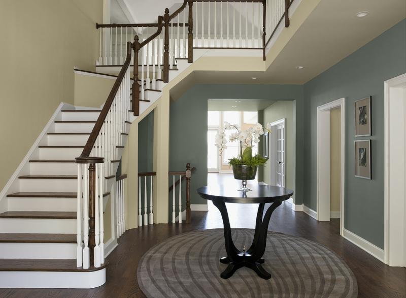 Flur Treppe Zeitgenössisch On Andere Beabsichtigt 62 Ideen Für Farbgestaltung Im Und Eingangsbereich 5