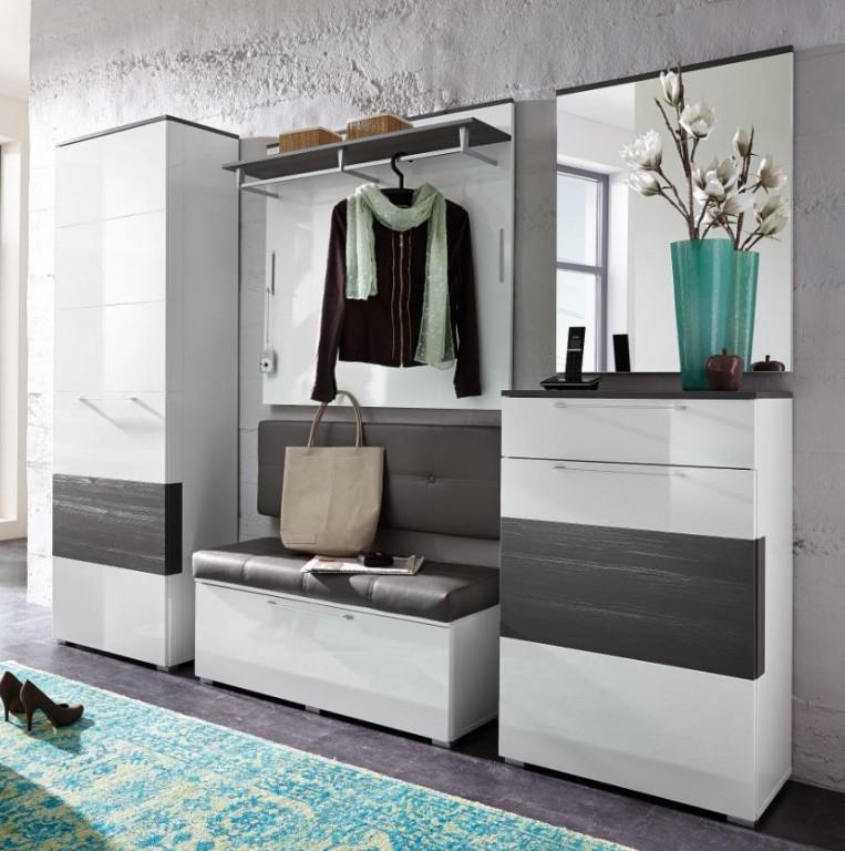 Garderoben Flur Modern On Andere überall Kingston 1 Set Komplettset Weiß 5