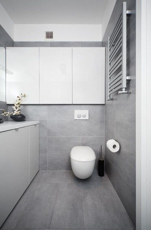 Graue Fliesen Einzigartig On Andere Beabsichtigt Badezimmer Modern Einrichten Weiße Badmöbel Grifflos 3