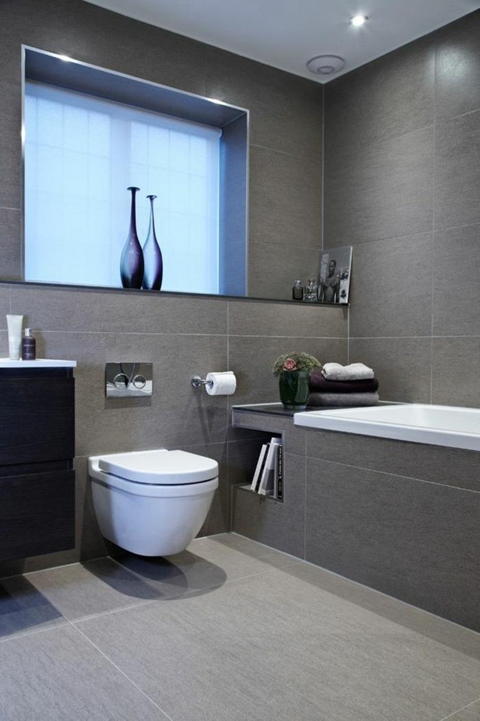 Graue Fliesen Unglaublich On Andere Für Fürs Badezimmer 61 Bilder Die Sie Beeindrucken 8
