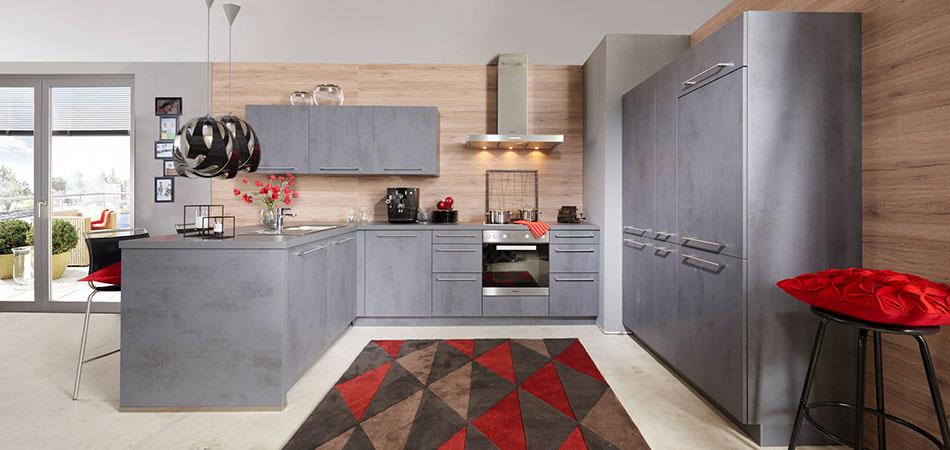 graue küche | thand