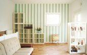 Grün Weiß Streifen Auf Wand
