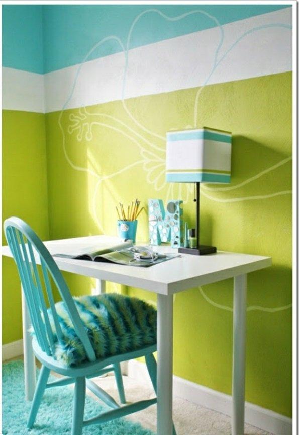 Grün Weiß Streifen Auf Wand Imposing On Andere Und Gestreifte Grüne Wände TeeToz Com 3