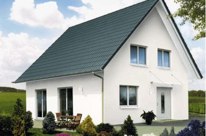 Haus Grau Weiß