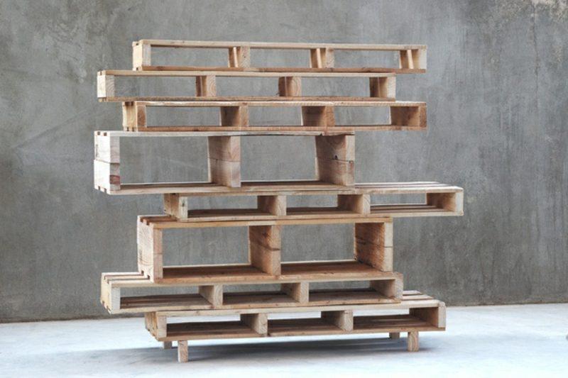Holzpaletten Regal Glänzend On Andere In Aus Paletten 51 Budget Freundliche DIY Ideen Möbel 8