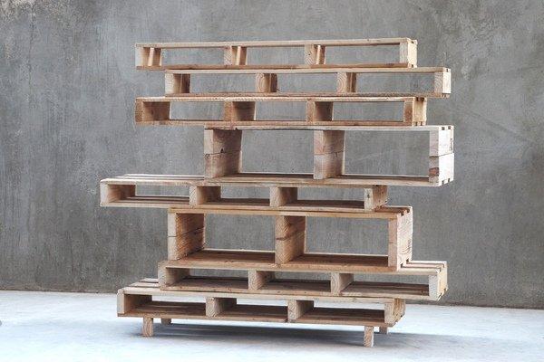 Holzpaletten Regal