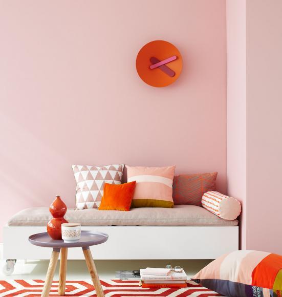 Innendekoration Farbe Wände Imposing On Andere In Bezug Auf Zartes Rosa Mit Orange Bild 6 LIVING AT HOME 7