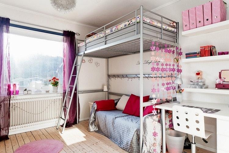 Jugendzimmer Mädchen Hochbett Bescheiden On Andere Und Beeindruckend Einrichtung Maedchen Metall 1