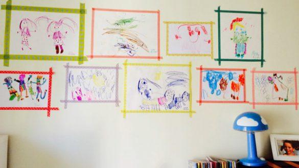 Kinderbilder Aufhängen