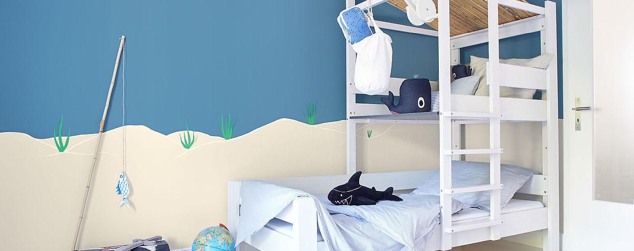 Kinderzimmer Wandfarbe Einzigartig On Andere Beabsichtigt Blaue Wandfarben Im Für Jungen Ab 3 Jahren 7