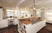 Küche Mit Kochinsel Landhausstil