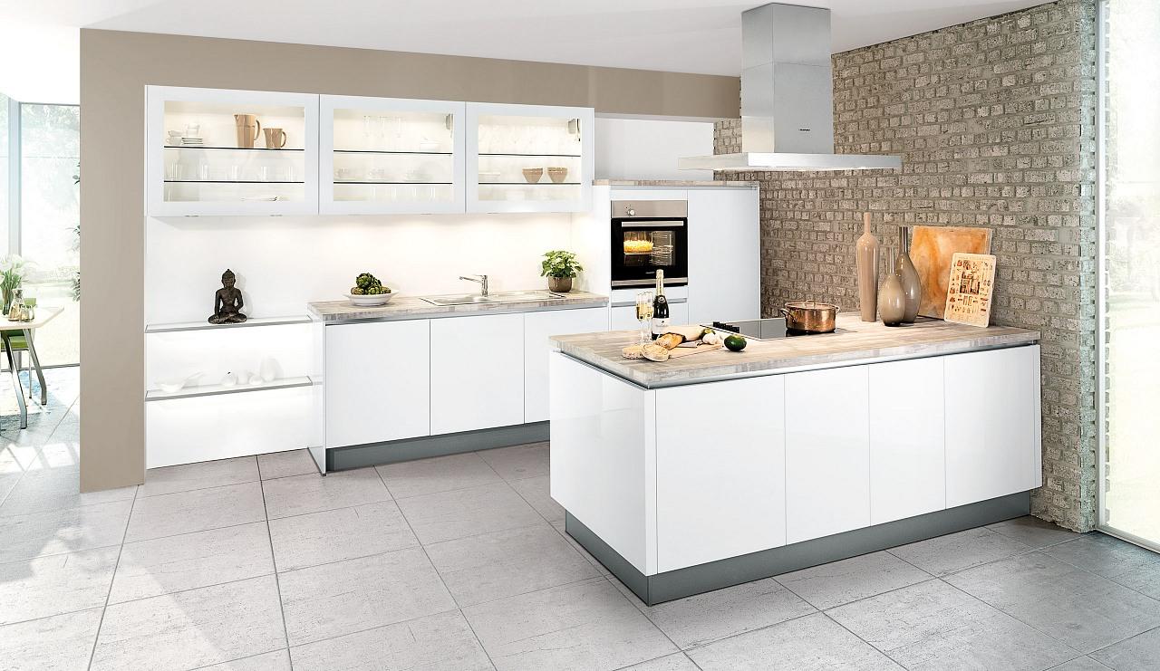 Küche Weiß Hochglanz Ausgezeichnet On Andere Beabsichtigt Spektakuläre Ideen Moderne Und Schöne Einbauküche 2