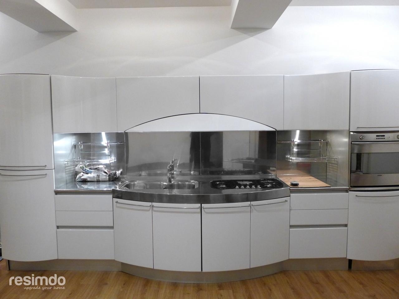 Küche Weiß Hochglanz Einfach On Andere Mit Folieren Rot Zu Resimdo 8