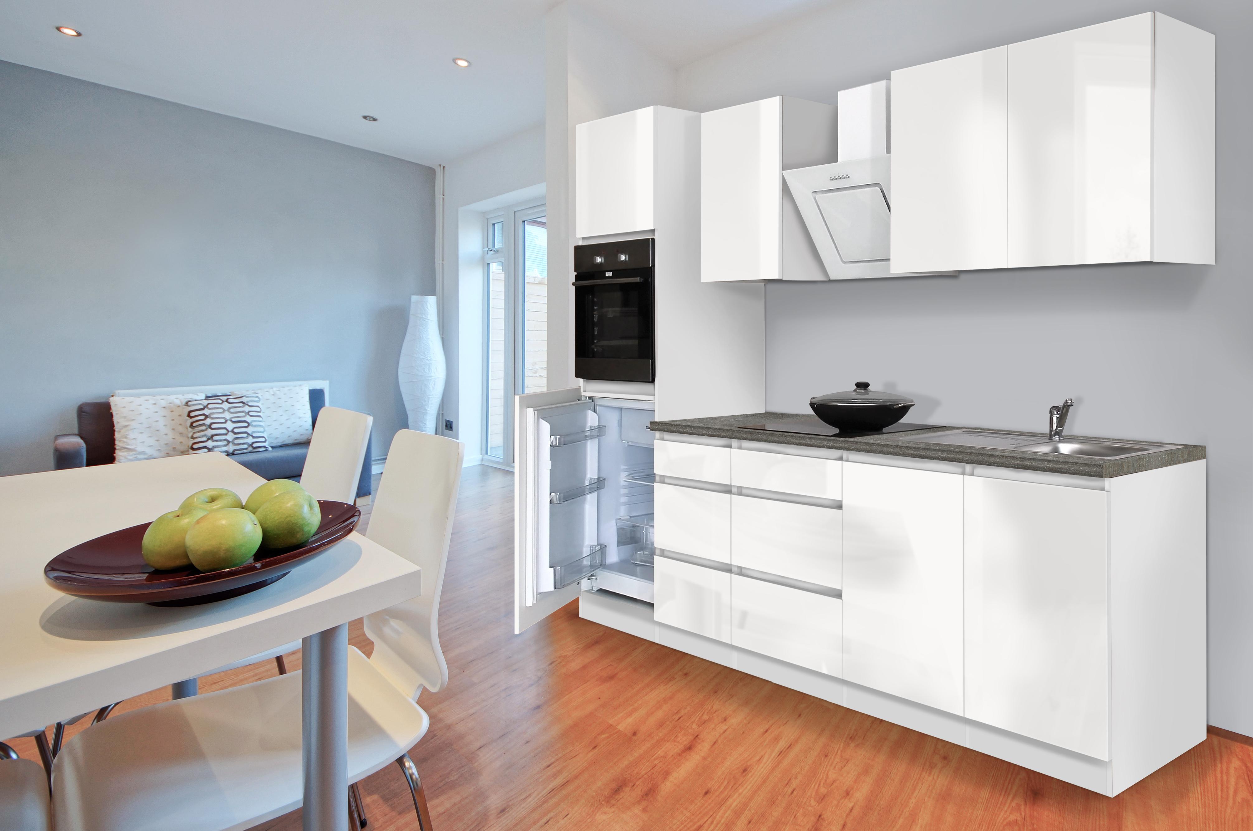 Küche Weiß Hochglanz Einfach On Andere Und Respekta Premium Grifflose Küchenzeile Küchenblock 270cm 5