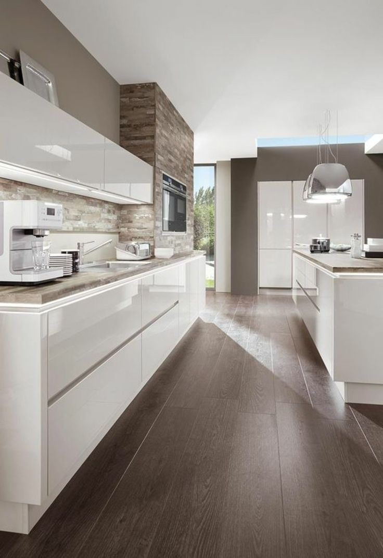 Küche Weiß Hochglanz