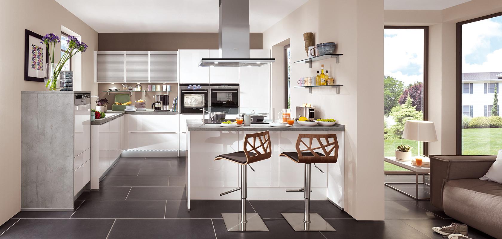 Küche Weiß Hochglanz Großartig On Andere Innerhalb LUX 814 Moderne Küchen Nobilia 6